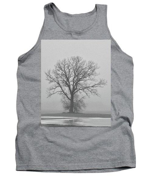 Bare Tree In Fog Tank Top