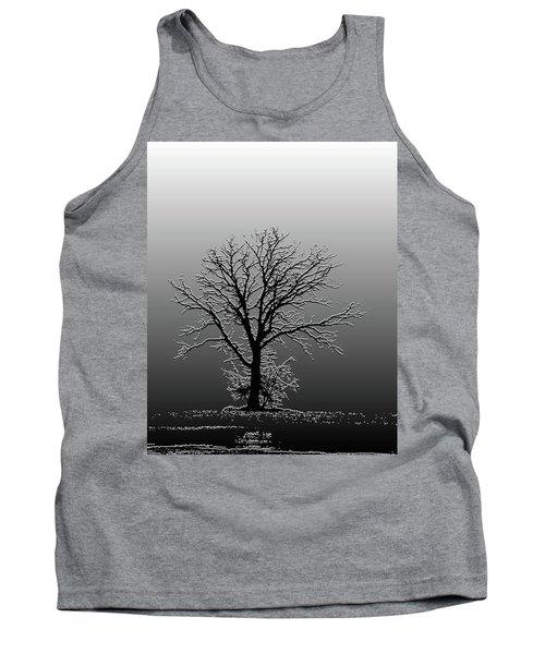 Bare Tree In Fog- Pe Filter Tank Top