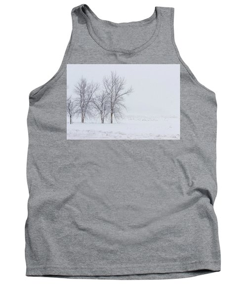 Bare Trees In A Snow Storm Tank Top