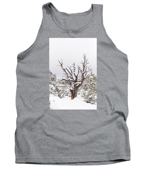 Bark And White Tank Top
