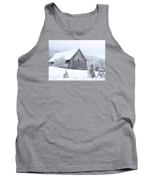 Barn After Snow Tank Top