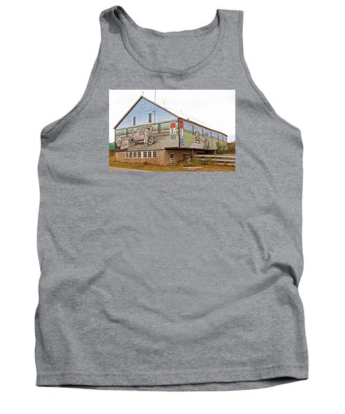 Tank Top featuring the photograph Barn In Bedford by Trina  Ansel