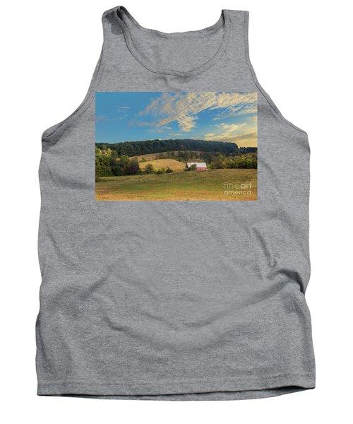 Barn In Field Tank Top