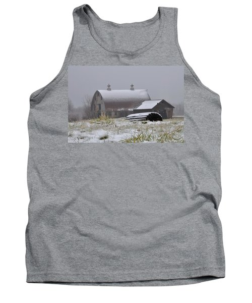 Barn In Winter Tank Top
