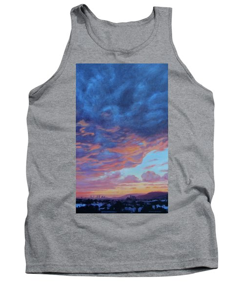 Tank Top featuring the painting Barnsdall Hill by Andrew Danielsen