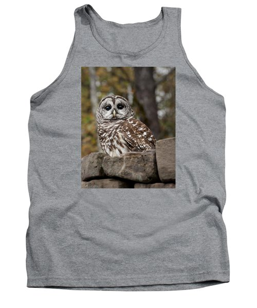 Barred Owl Tank Top by Tyson and Kathy Smith
