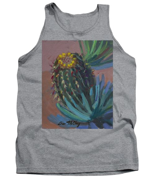 Barrel Cactus In Bloom - Boyce Thompson Arboretum Tank Top