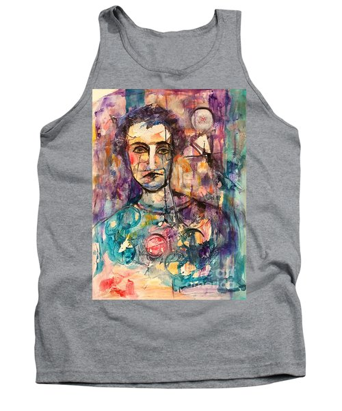 Baseball Player Tank Top by Ellen Anthony
