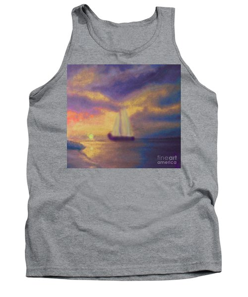 Tank Top featuring the painting Basking In The Sun by Holly Martinson