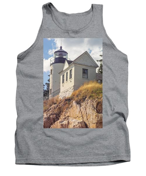 Bass Harbor Light Photo Tank Top by Peter J Sucy