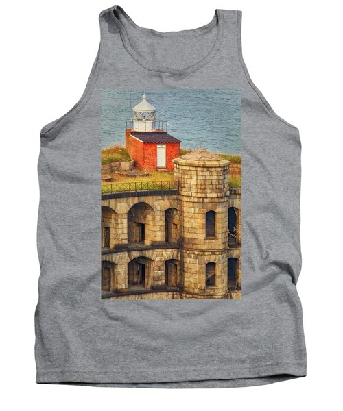 Tank Top featuring the photograph Battery Weed At Fort Wadsworth Nyc by Susan Candelario