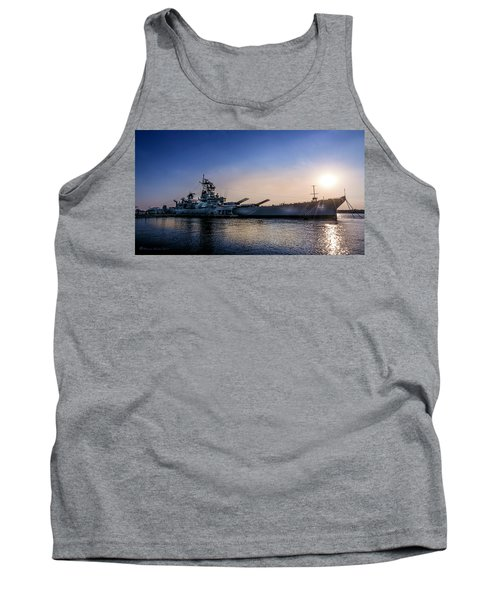 Tank Top featuring the photograph Battleship New Jersey by Marvin Spates