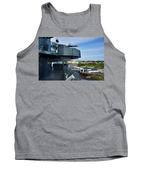 Battleship View Of Wilmington Nc Tank Top by Denis Lemay