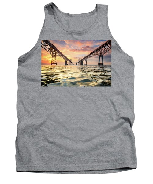 Tank Top featuring the photograph Bay Bridge Impression by Jennifer Casey