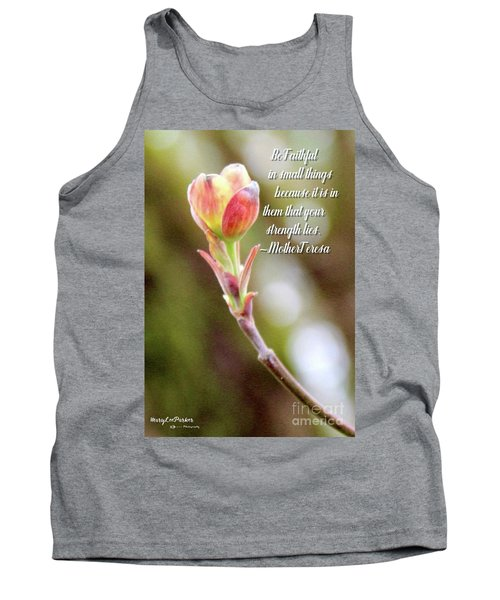 Be Faithful By Mother Teresa Tank Top
