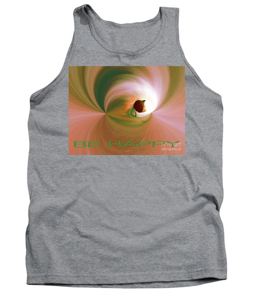 Be Happy Green-rose With Physalis Tank Top