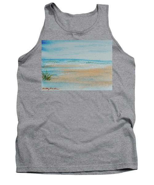 Tank Top featuring the painting Beach At High Tide by Dorothy Darden