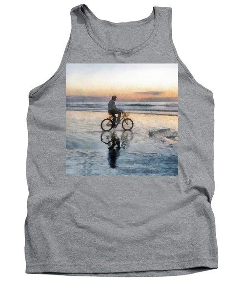 Beach Biker Tank Top by Francesa Miller