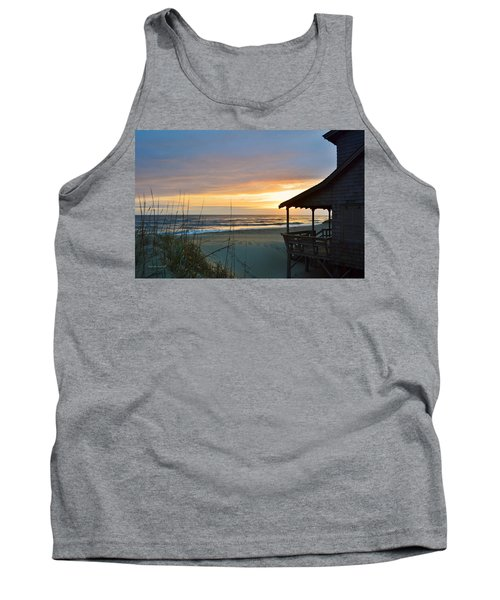 Beach Cottage Sunrise  Tank Top
