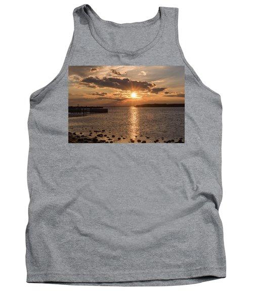 Beach Haven Nj Sunset January 2017 Tank Top