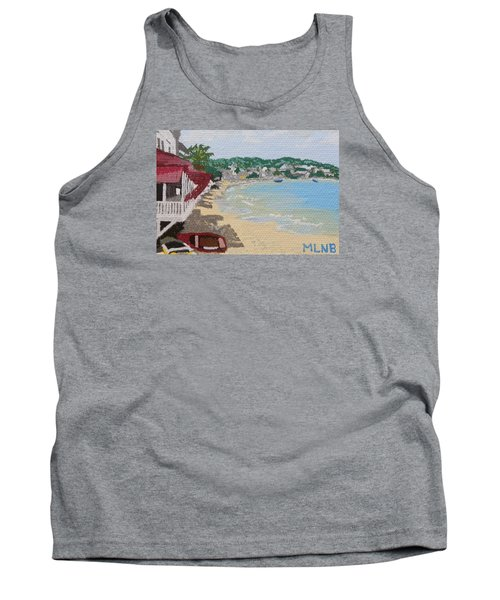 Beach In Grand Case Tank Top by Margaret Brooks
