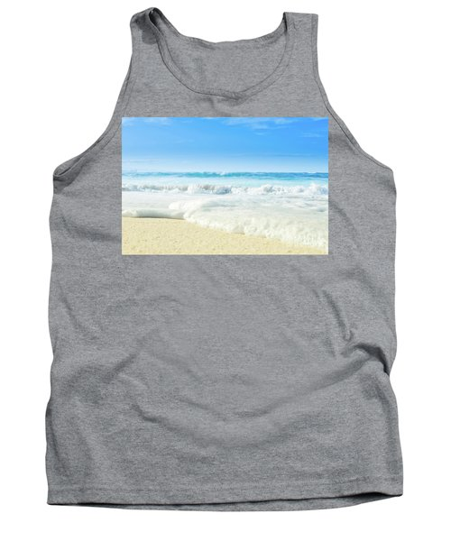 Tank Top featuring the photograph Beach Love Summer Sanctuary by Sharon Mau