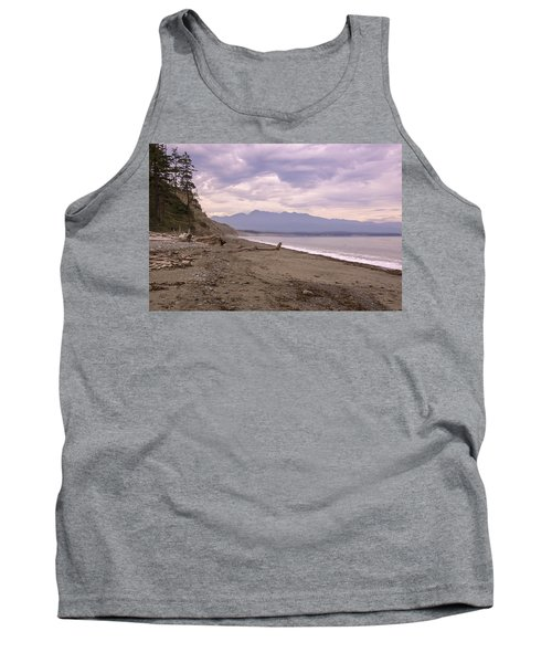 Beach On Dungeness Spit Tank Top