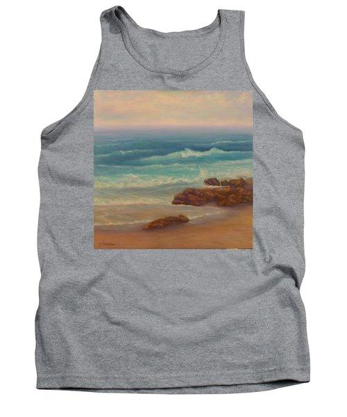 Beach Painting Beach Rocks  Tank Top