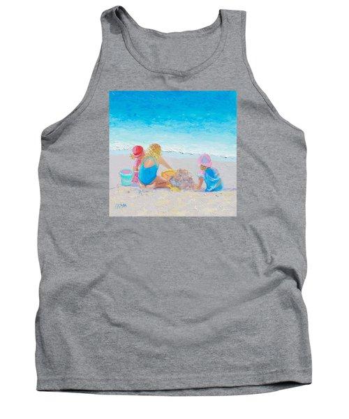 Beach Painting - Building Sandcastles Tank Top
