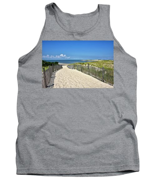 Beach Path At Cape Henlopen State Park - The Point - Delaware Tank Top by Brendan Reals