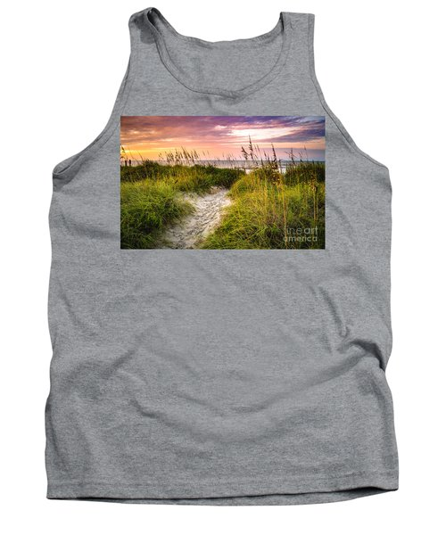 Beach Path Sunrise Tank Top