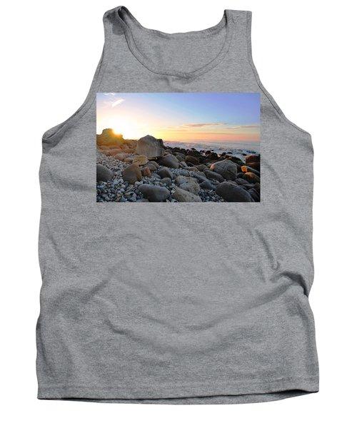 Beach Sunrise Over Rocks Tank Top