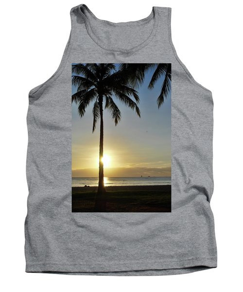Tank Top featuring the photograph Beach Sunset by Amee Cave