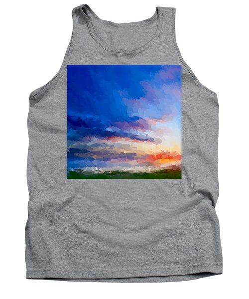 Beach Sunset Tank Top by Anthony Fishburne