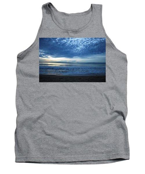Beach Sunset - Blue Clouds Tank Top