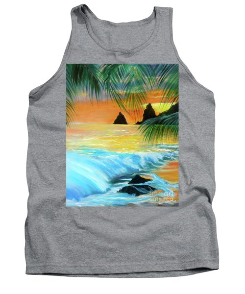 Beach Sunset Tank Top by Jenny Lee