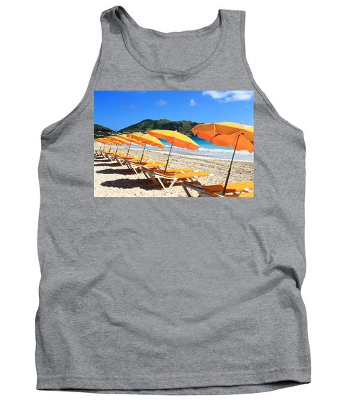 Beach Umbrellas Tank Top