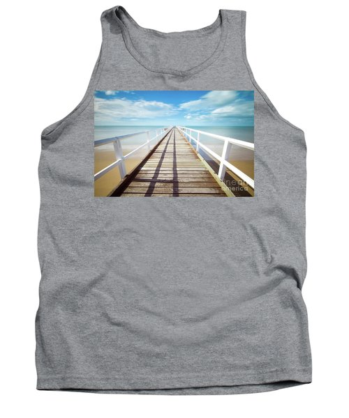 Tank Top featuring the photograph Beach Walk by MGL Meiklejohn Graphics Licensing