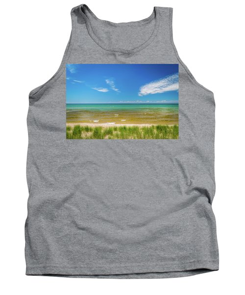 Beach With Blue Skies And Cloud Tank Top