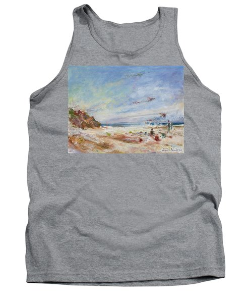 Beachy Day - Impressionist Painting - Original Contemporary Tank Top