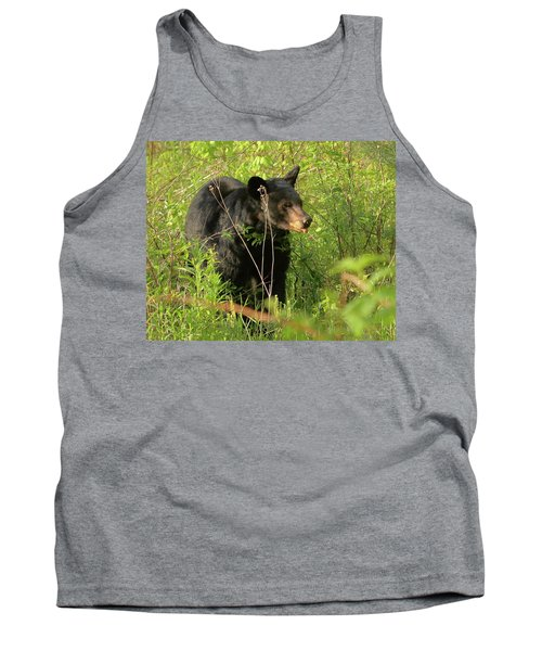 Bear In The Grass Tank Top by Coby Cooper