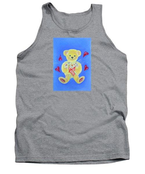 Bear With Flowers Tank Top by Elizabeth Lock