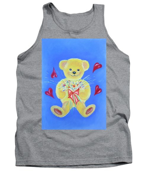 Bear With Flowers Tank Top
