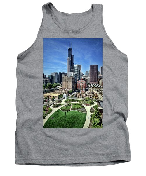 beautiful day and view of Chicago Tank Top