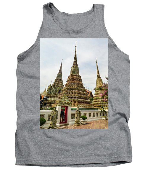 Beautiful Stupas At Wat Pho Temple Tank Top