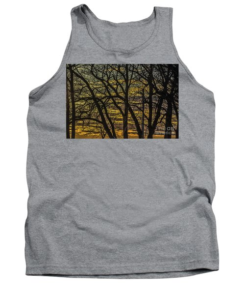 Beautiful Sunset Behind Bare Trees Tank Top