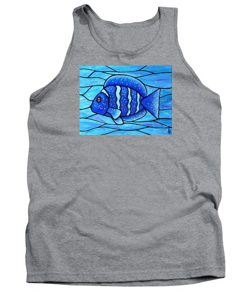 Beckys Blue Tropical Fish Tank Top by Jim Harris