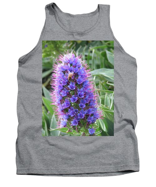 Bee On Blue Tank Top