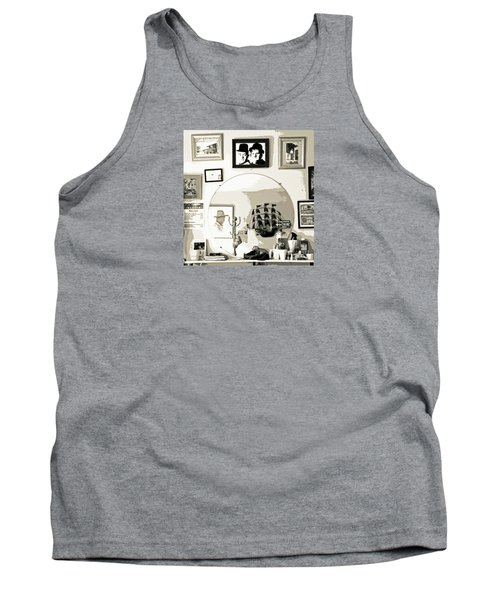 Tank Top featuring the photograph Behind The Barber Chair by Joe Jake Pratt