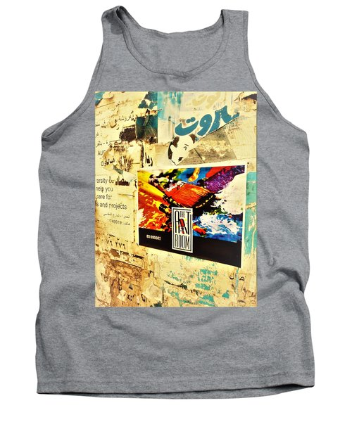 Beirut Wall  Tank Top by Funkpix Photo Hunter